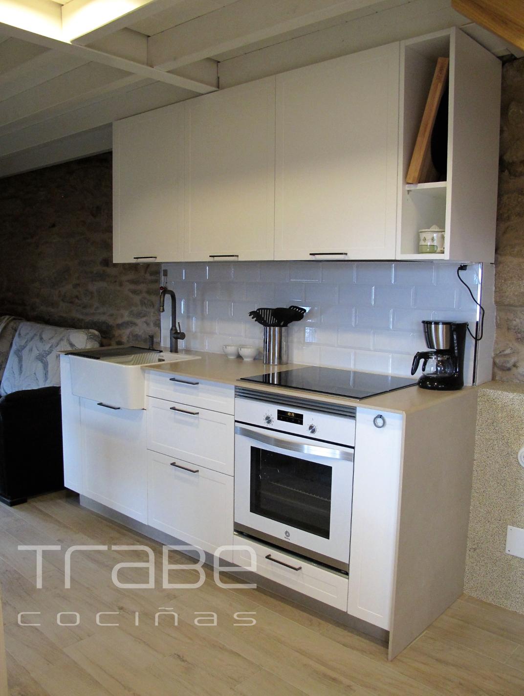Muebles Cocina En Lugo Modelo Mondrian Mate Blanco